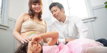 マタニティーフォト。おなかの大きな時代の思い出を写真で。無事出産を終えて、よかったね!